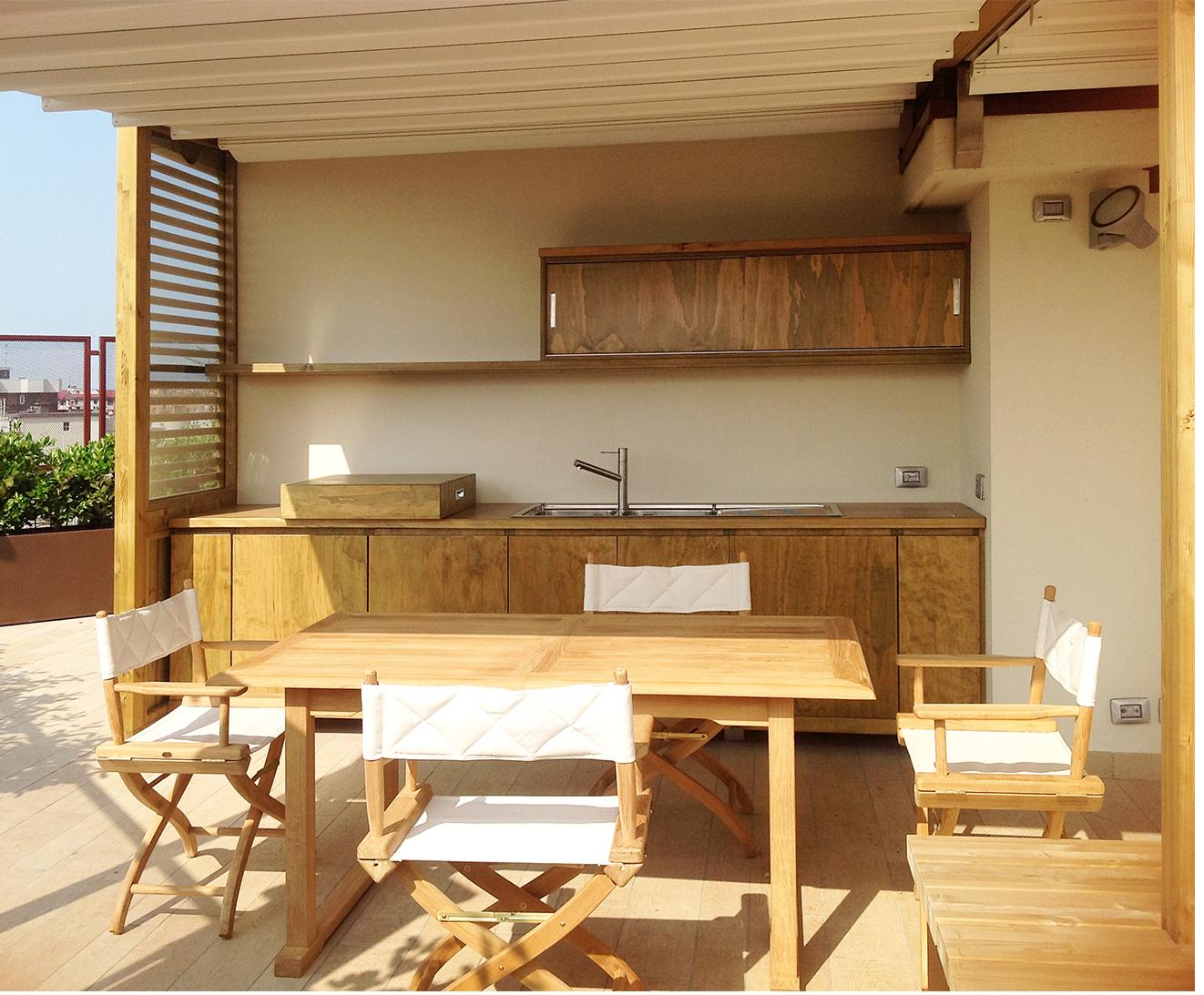 Terrazzo milanese… ordinato ed efficiente – Diletta Villa, architetto