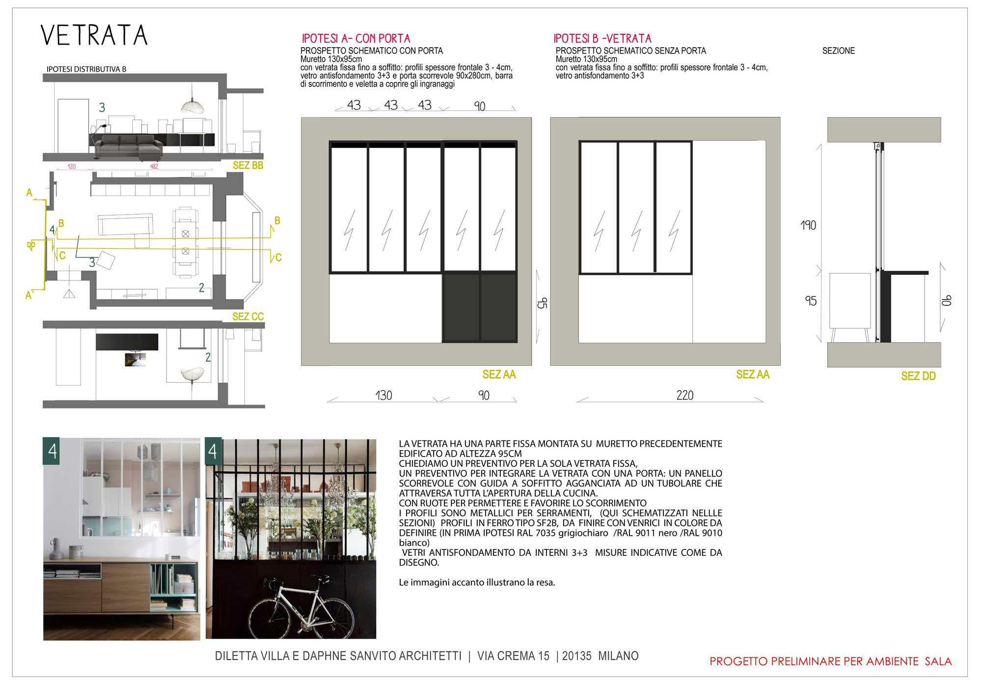 Parete Ferro E Vetro parete divisoria in ferro e vetro – diletta villa, architetto